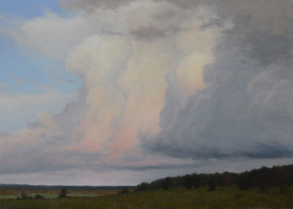Rolling Thunder - Ps 57:10  - 28.5x40 inches, pastel - featured at Cowgirl Up! 11th Annual Invitational Exhibition  SOLD