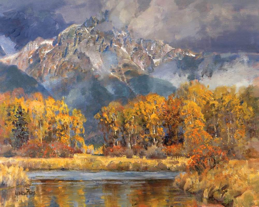 Teewinot Storm - 24x30 inches Grand Teton National Park - $11,000