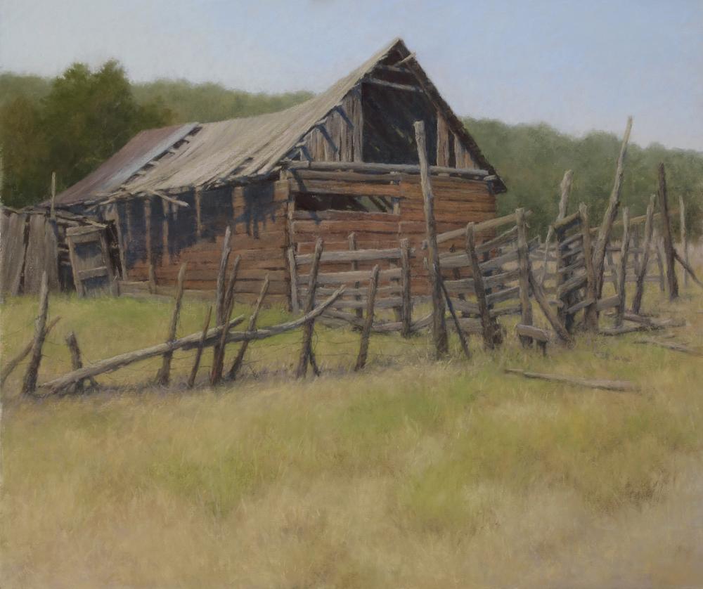 testimony, pastel, painting, barn, d larue mahlke