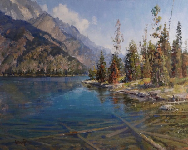 Crystal Teton Waters  - 24x30 inches