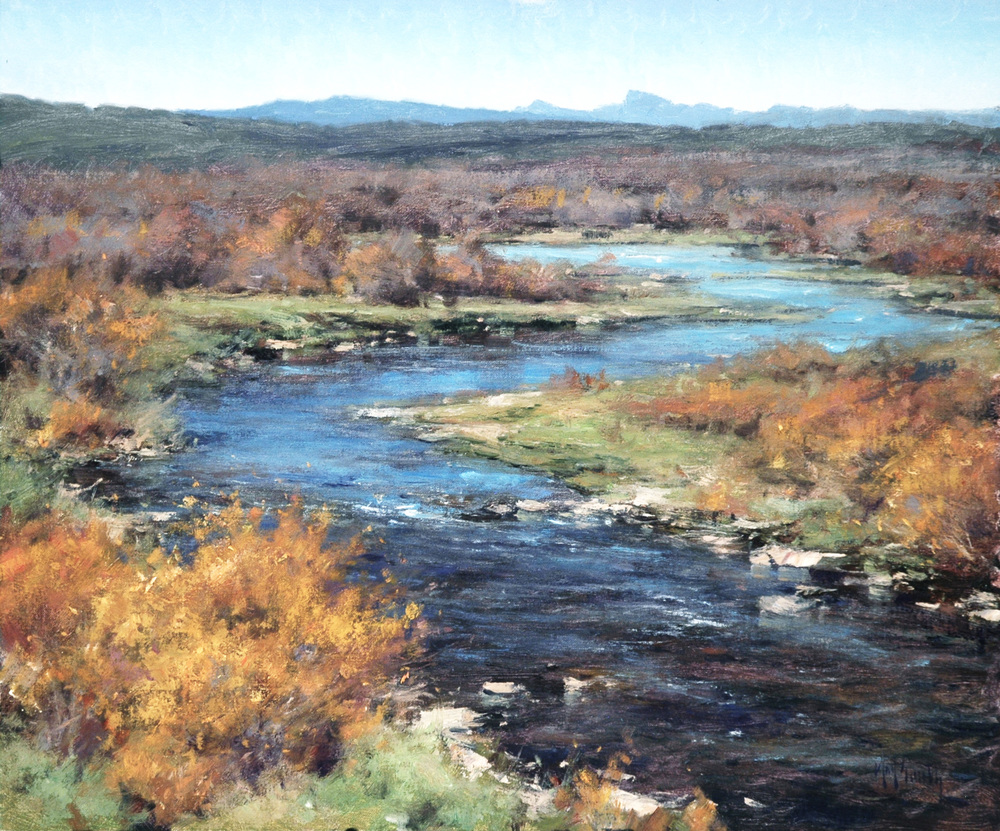 Autumn On The Sweetwater  - 20x24 inches