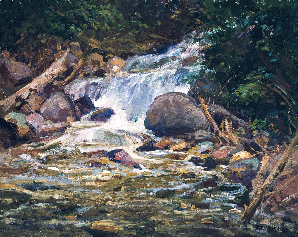 Rushing Brook - 16x20 inches - $6,500