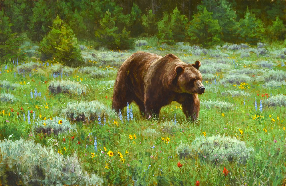 July Meadow  - 26x40 inches