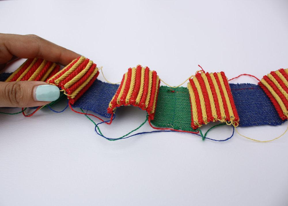 Handwoven Pleats / Primary Block Colors