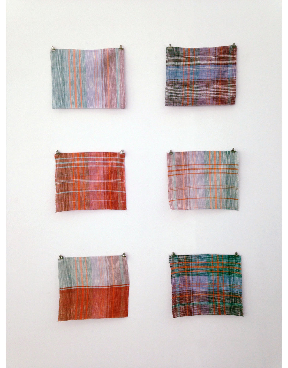 Hand-dyed and Hand-woven Samples