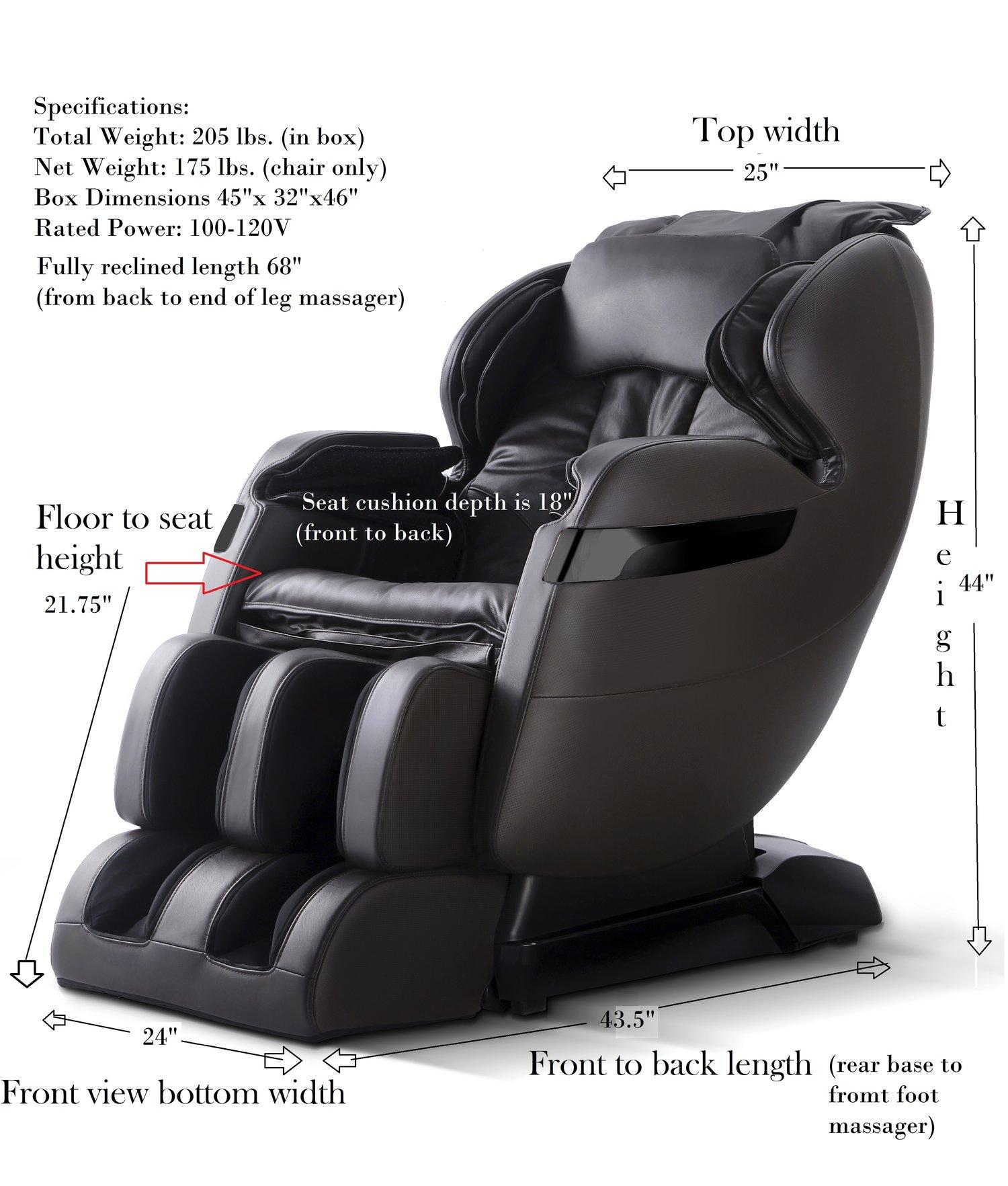 massage chair with leg massager. fr-5ks premier back saver massage chair with leg massager