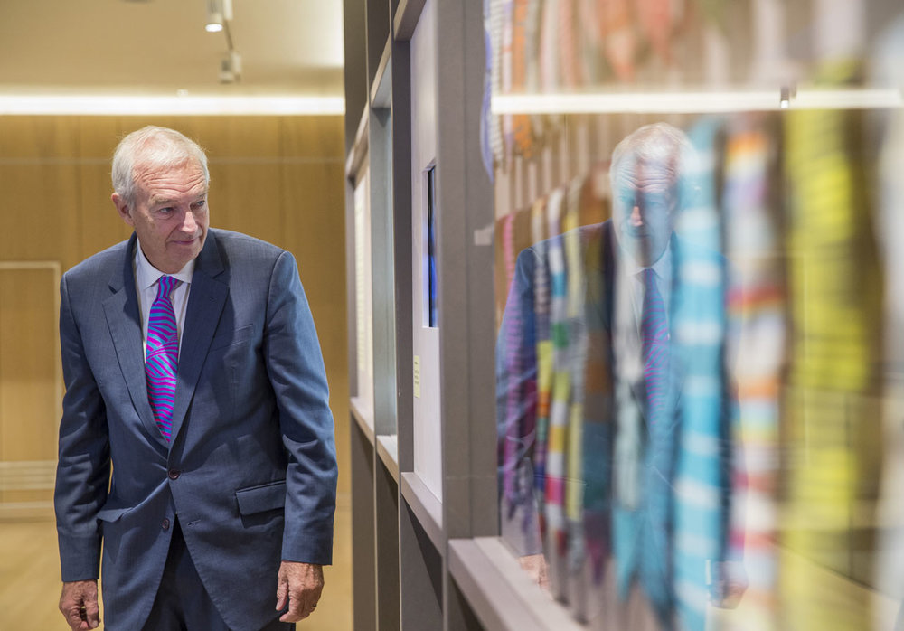 Jon Snow presents an exhibition of his ties designed by Victoria Richards at The Design Museum