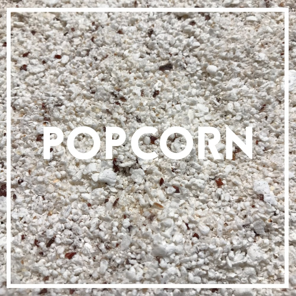 Our whole grain popcorn is a blue varietal grown by Andrew and Karlie Bowman of Pilot Knob farm, in Oneida IL. We air-pop and stone-mill it in small batches in-house. Used in: White Knight Popcorn was milled into flour during WWII, when wheat became scarce. Apart from the humble kitchen blender, the practice has since been lost. We had to Rube-Goldberg together three different machines to bring you stone-ground popcorn flour. It lends a strikingly light and airy quality to pancakes. Its flavor is unmistakable and distinct, especially when buttered.