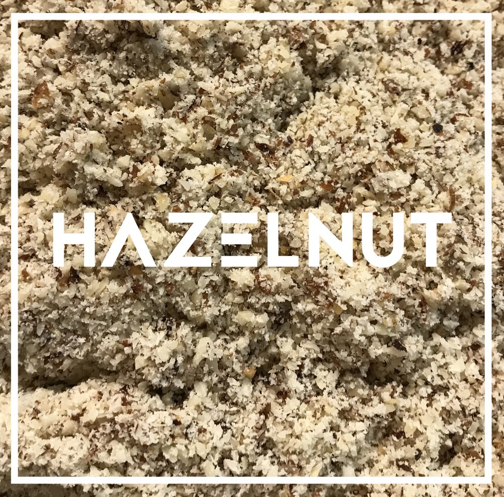 Hazelnuts are not widely grown in the midwest. Our hazelnut meal is made from hazelnuts grown in the pacific northwest, and milled by Bob's Red Mill, in Milwaukie OR.  Used in: Windy Point Hazelnuts are often added to cookies and chocolates for their crumbly texture and rich flavor. They are the perfect addition to a tender high-protein breakfast cake that won't quit before lunch.