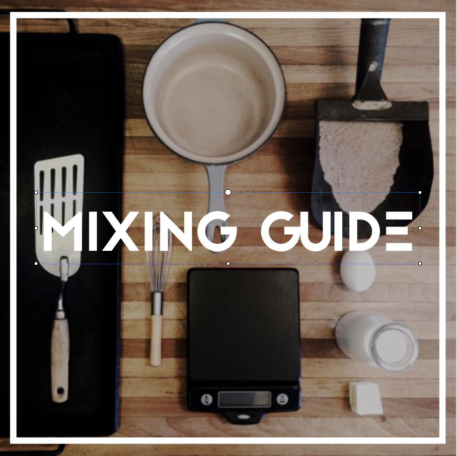 MIXING GUIDE  The finer points: speed, accuracy, and as few dishes as possible.