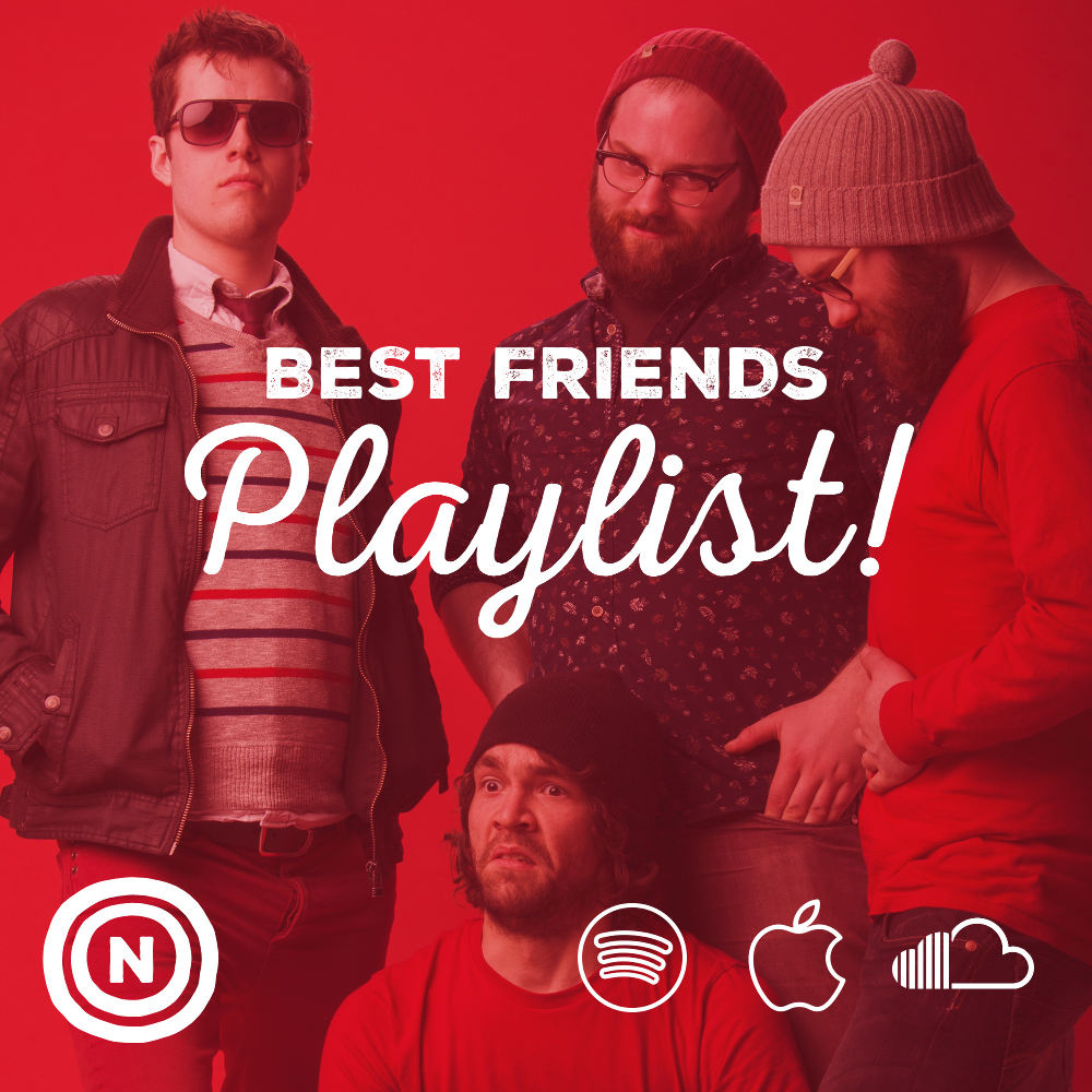 Best Friends Playlist - We decided to put together a playlist of all the bands we play with and all our friends that make music. It's available on Spotify, Apple Music & Soundcloud!
