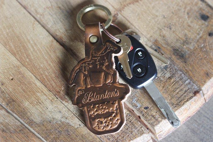 blanton s bourbon full grain leather keychain blanton s bourbon shop