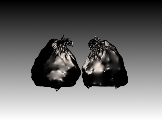 Garbage bags created with Marvelous Designer