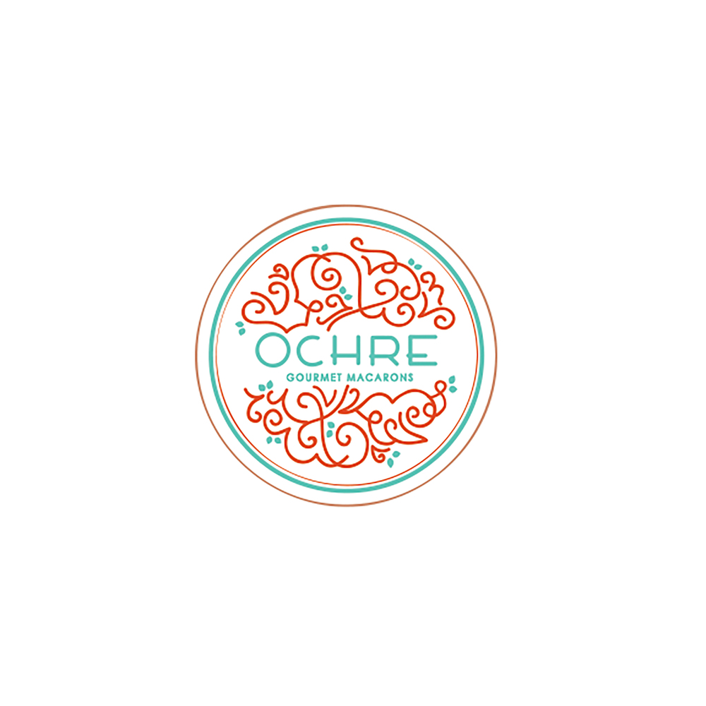 Ochre Macarons Logo created by Caroline Staniski
