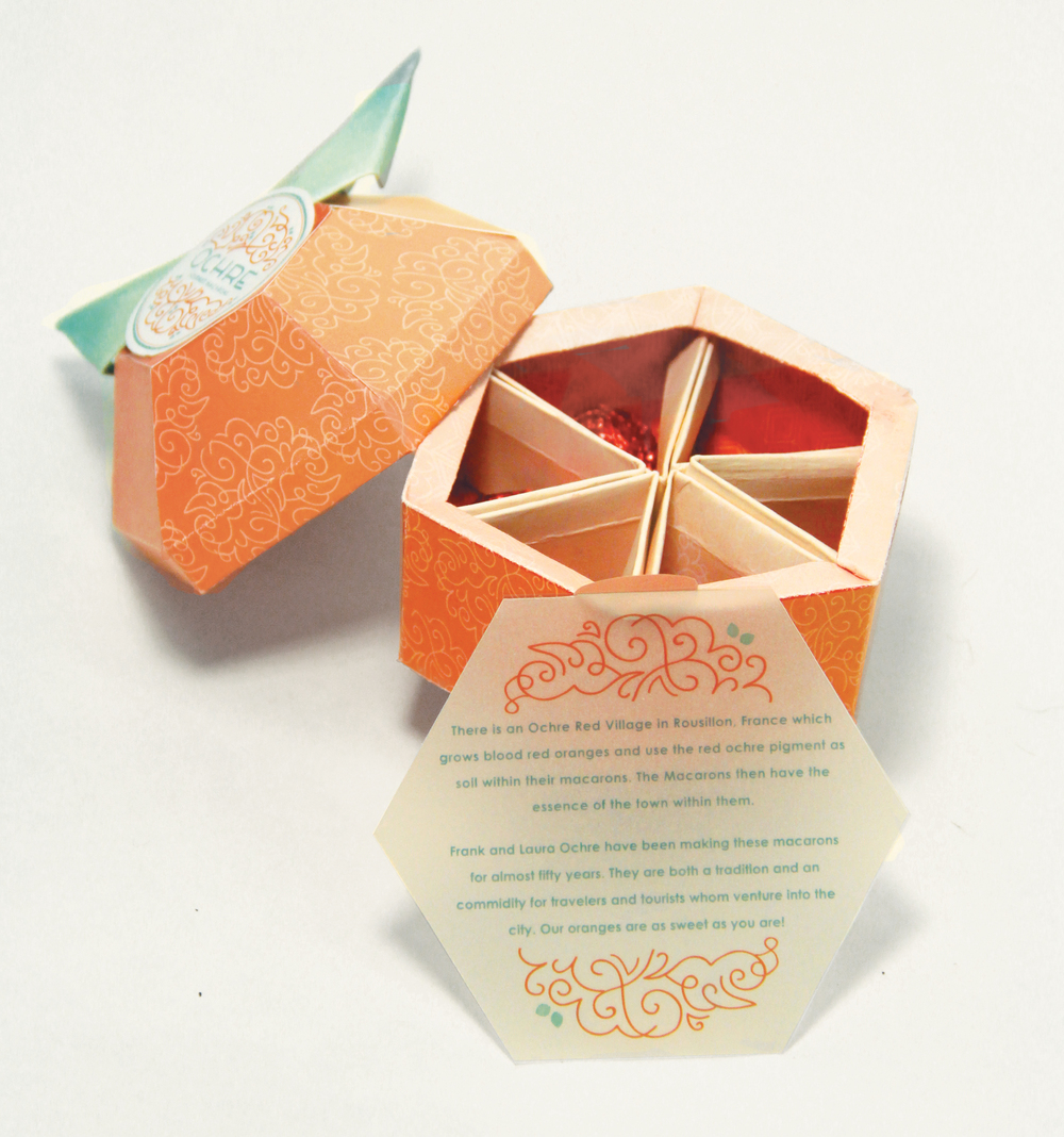 Packaging created by Caroline for Ochre Macarons