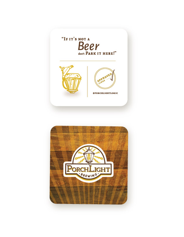PorchLight Brewing Co. Coaster Design