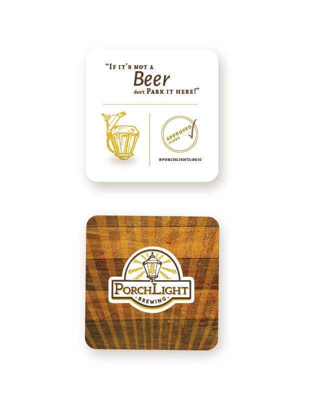 PorchLight Brewing Co. Coaster Design