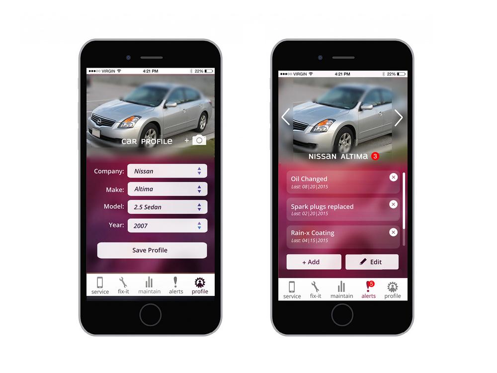Car Profile Setup | Car Profile Notifications
