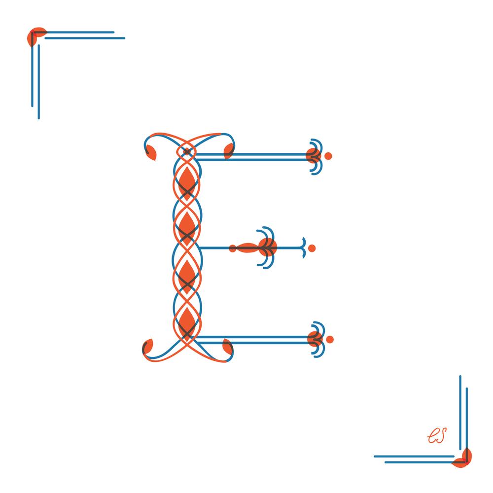 Letter E Design