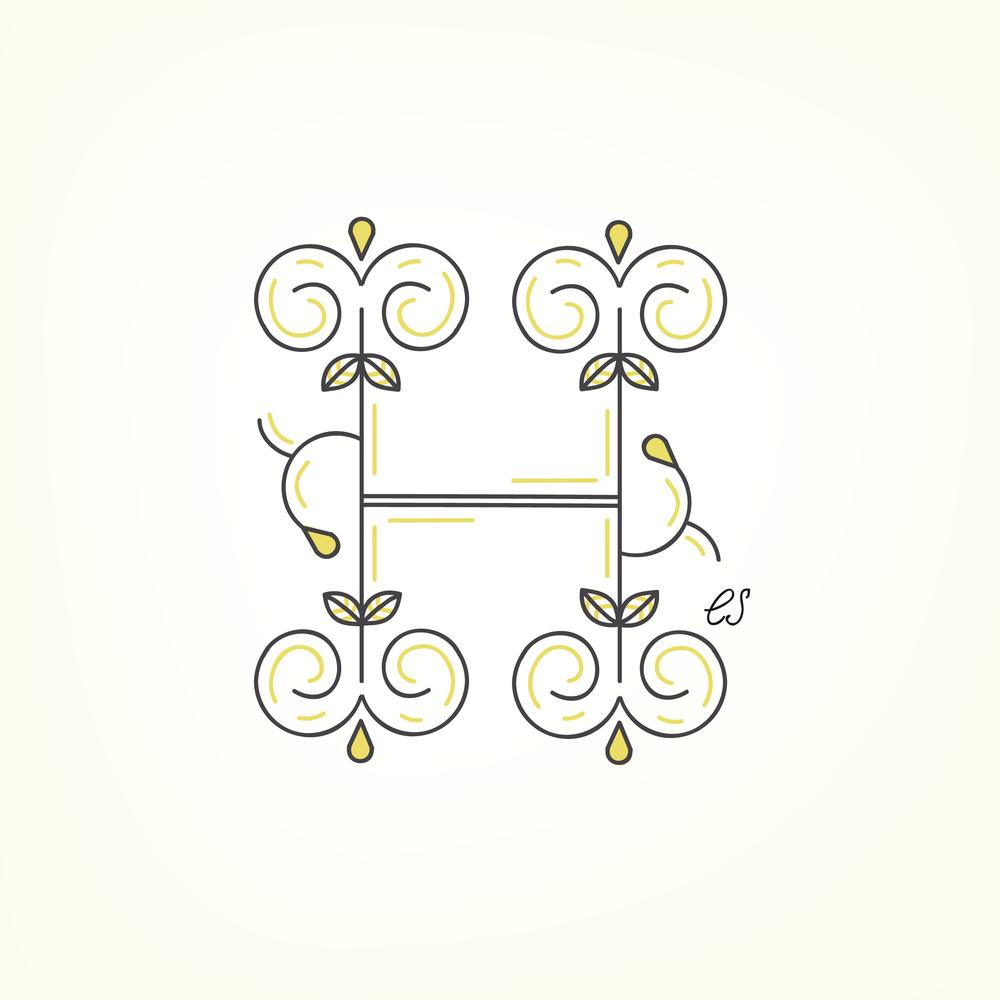 Letter H Design #2
