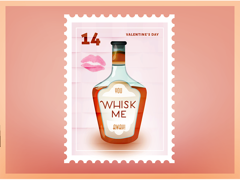 Whisk Me Valentine Stamp