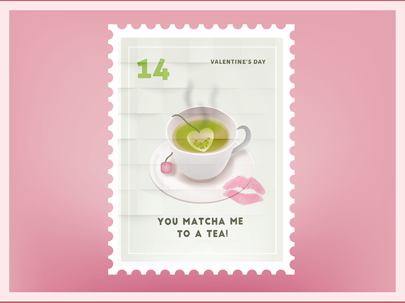 You Match Me To a Tea Valentine Sticker