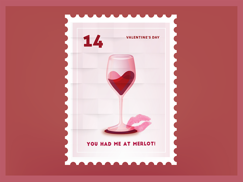 You had me at Merlot Valentine Sticker