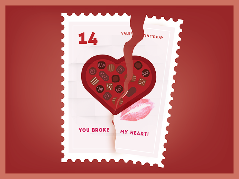 You broke my heart Your Just my type Valentine Sticker