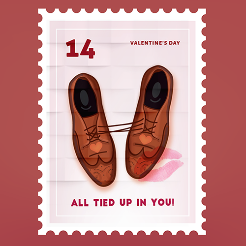 Design Taxi Valentines Day Stamps Award