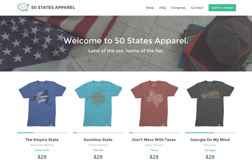 50 States Apparel T-shirts