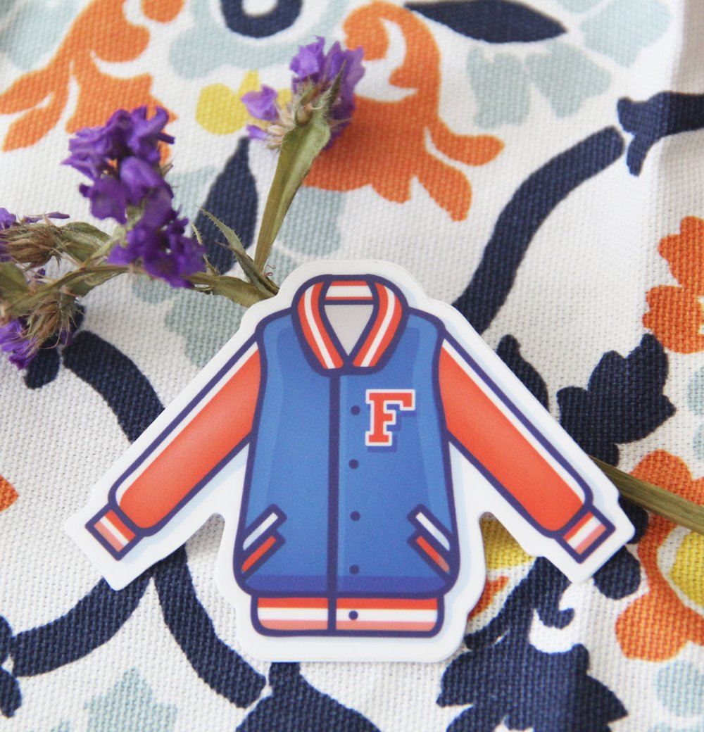 University of Florida Jacket Sticker by Caroline Staniski