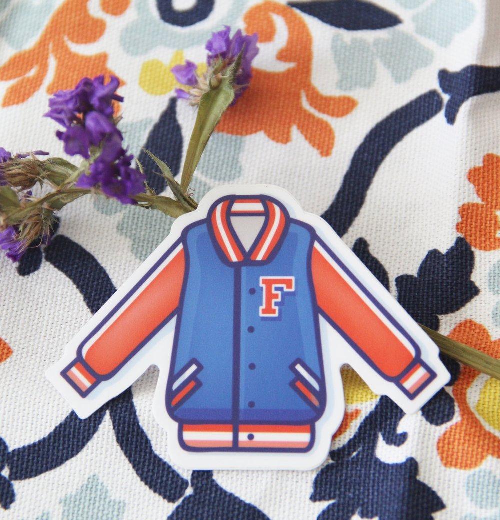 University of Florida Jacket Sticker by Caroline Staniski