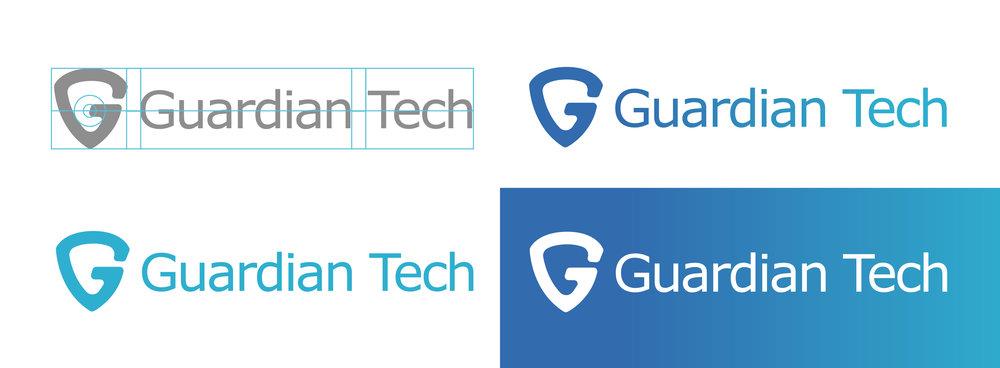 Logo Options: Solid Grey, Gradient, Gradient Overlay