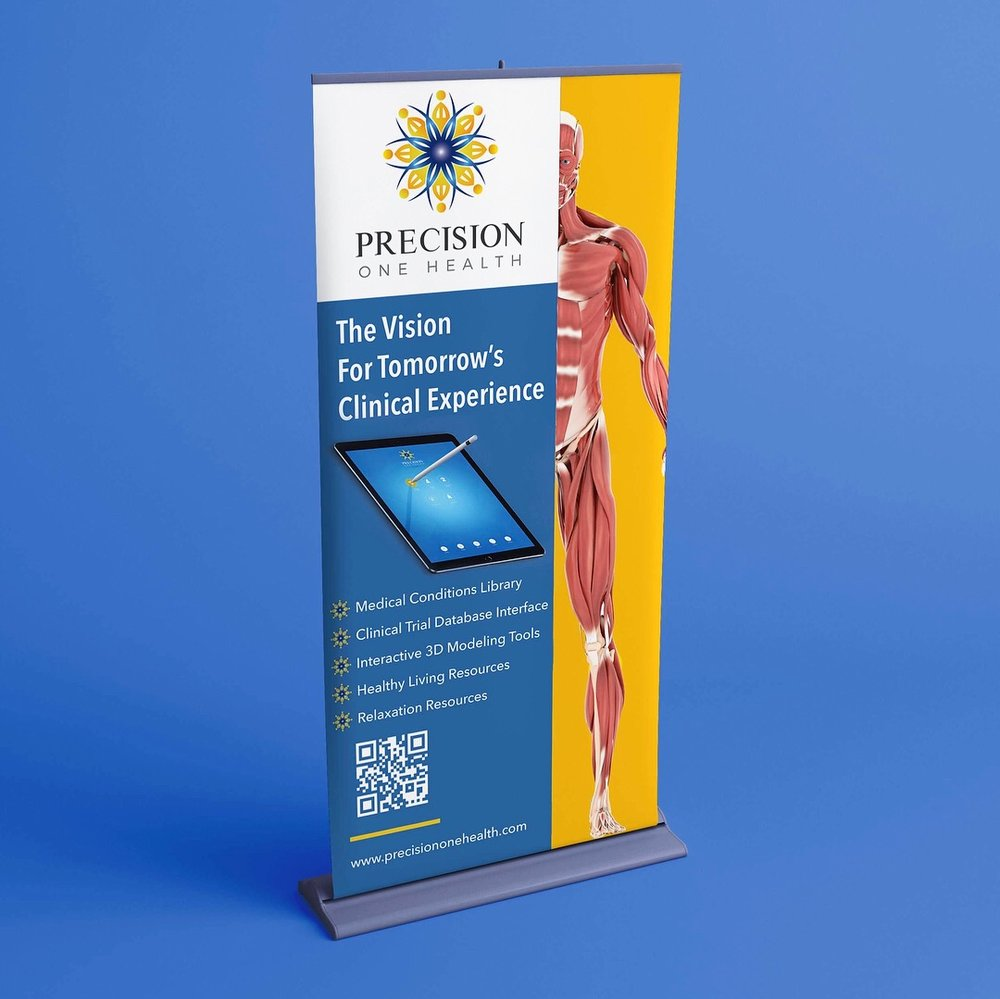 Banner + Stand Design (Anatomical Model Designed by Nicholas Diaz)
