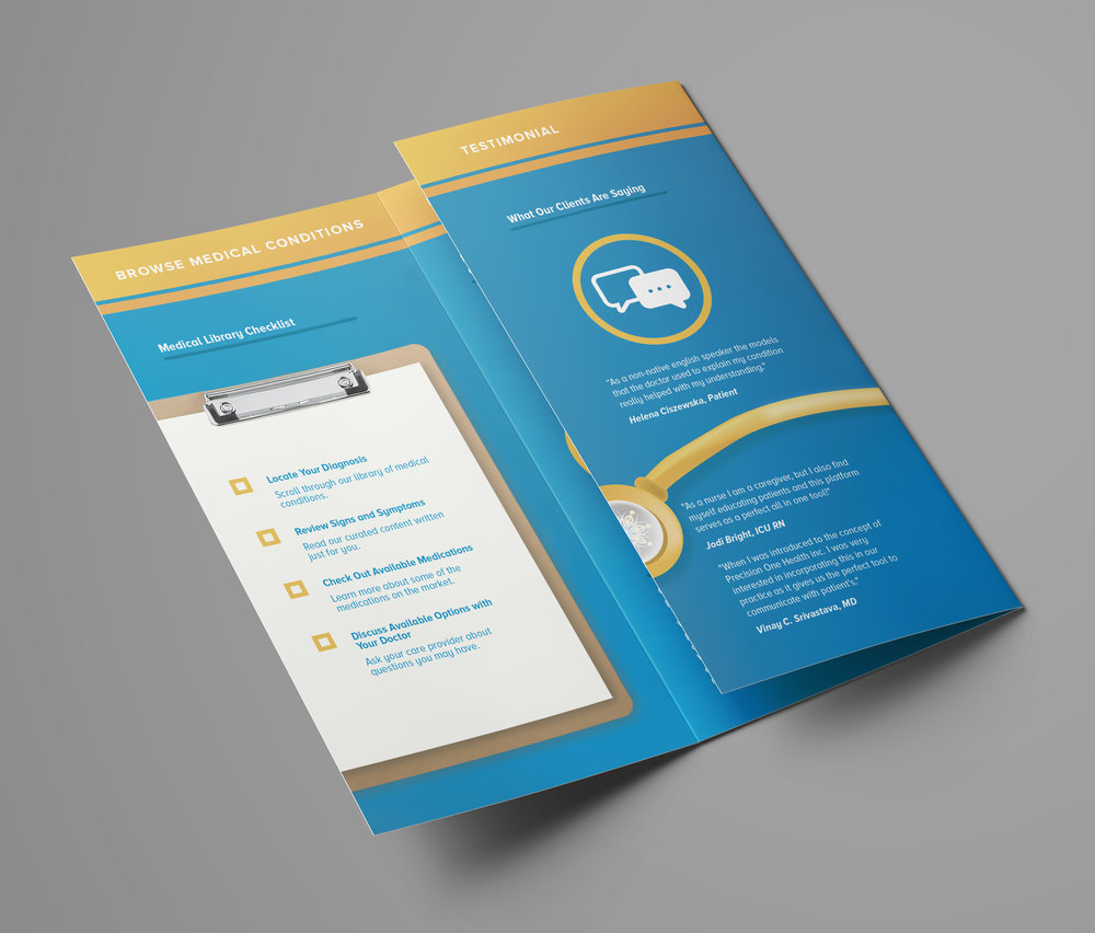 Precision One Health Pamphlet Open