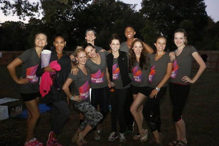 Charlotte Ballet visit Yoga On Tap