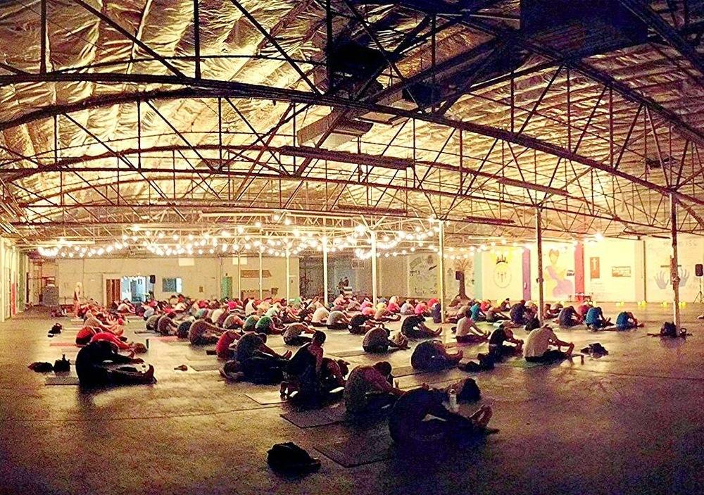 Winter Yoga Class in Charlotte