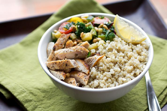 quinoa bowl for yogis