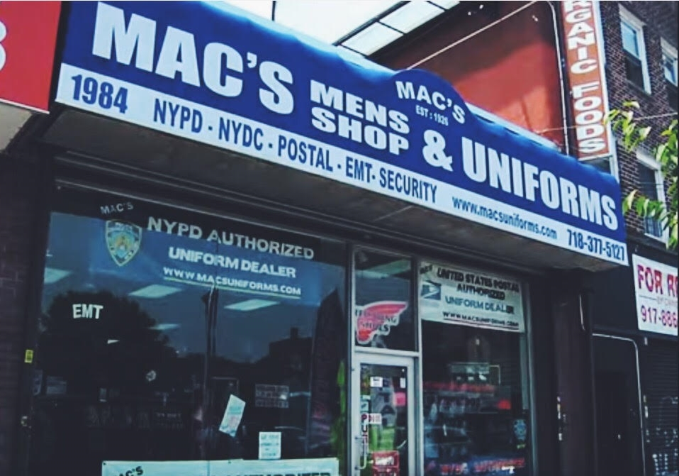 Mac's Uniforms Storefront