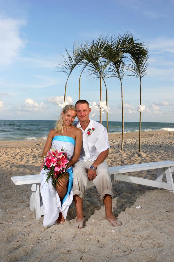 A beautiful beach wedding
