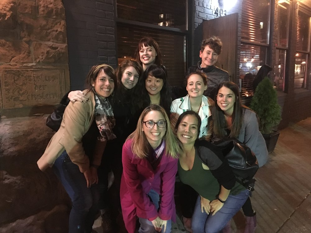 The Beidas lab (past and present) after a delicious meal at Bea in NYC during ABCT