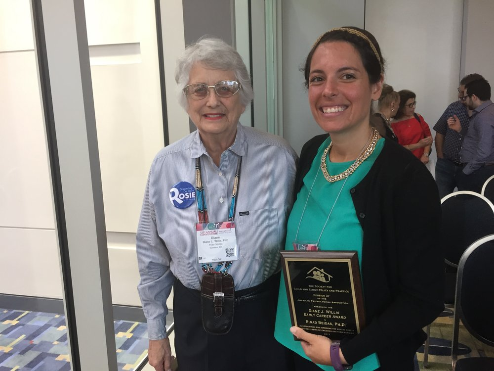 Dr. Rinad Beidas is honored with the Diane J. Willis Early Career Award