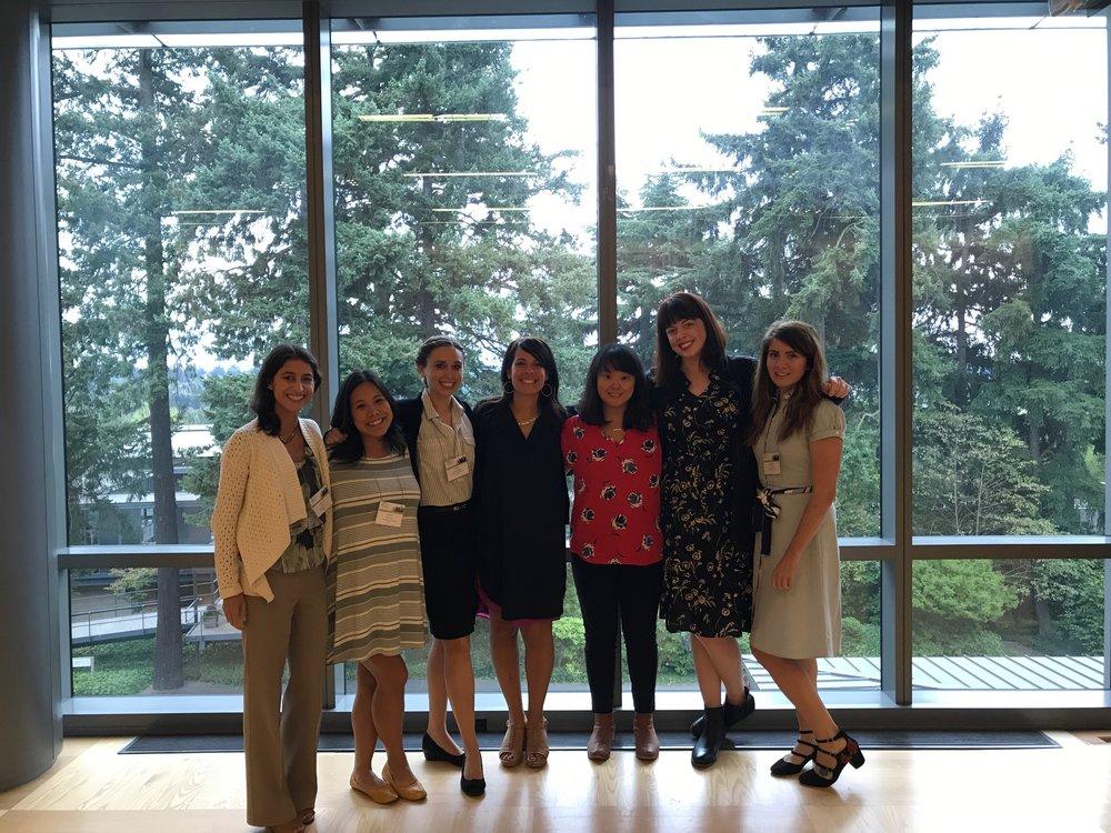 The Beidas Lab, past & present (from left to right): Hanah Frank, Kelsie Okamura, Emily Becker-Haimes, Rinad Beidas, Adina Lieberman, Kelly Zentgraf, Dani Adams