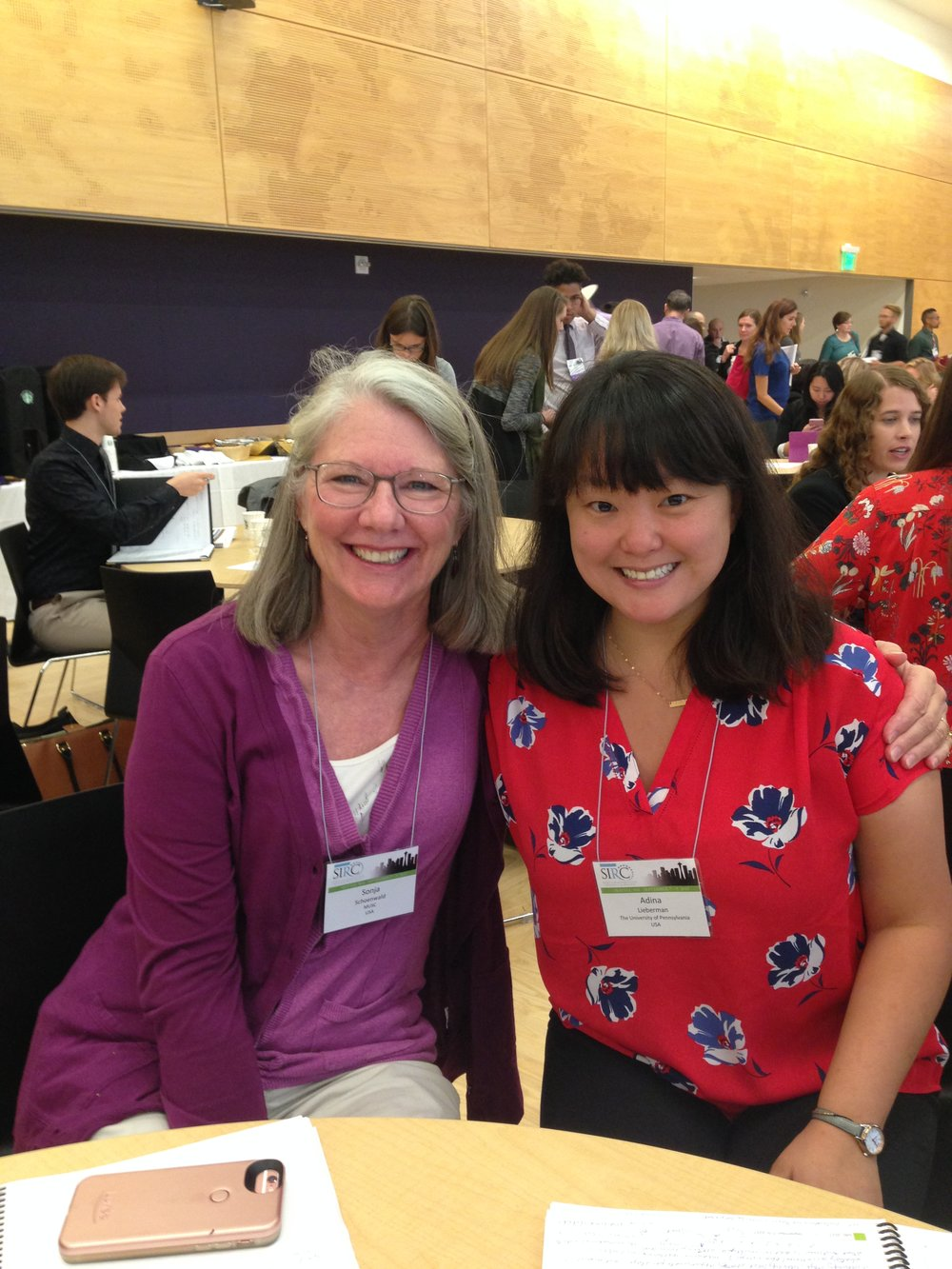 Sonja Schoenwald (FACTS co-investigator) and Adina Lieberman at SIRC Conference in September 2017