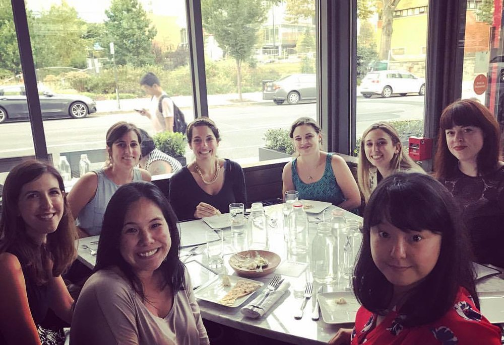 Beidas Lab celebrates former CMHPSR fellow, Kelsie Okamura, being in town with a group dinner at Zavino!