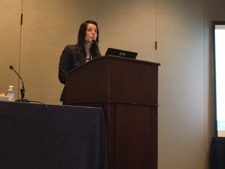 "Rinad Beidas presenting during the panel session ""Towards causal theory in implementation science: The next frontier"" at the 10th Annual Conference on the Science of Dissemination and Implementation in Health in Arlington, VA in December 2017."
