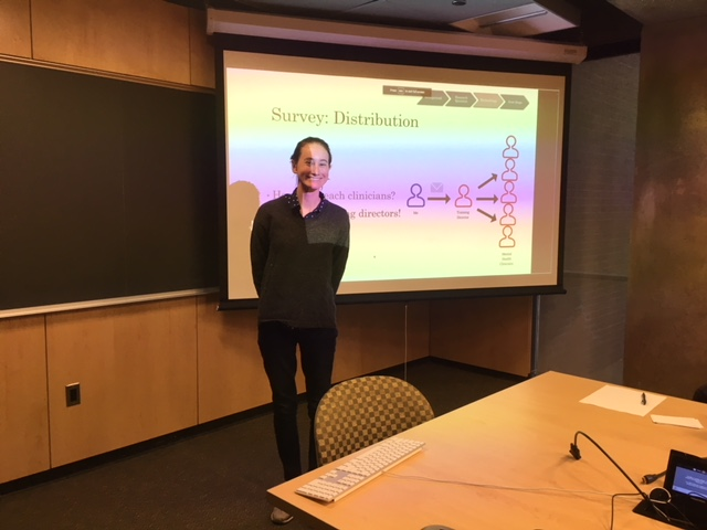 Kathryn Dewitt (Beidas Lab Undergraduate Research Assistant) presenting her Psychology Honors Thesis on 12/11/2017