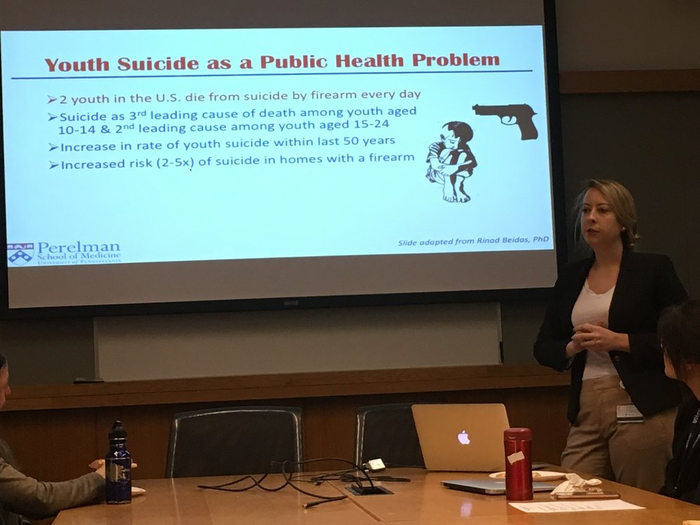 Amy Van Pelt, doctoral student in epidemiology, presents on her experience coding ASPIRE qualitative data as part of her rotation in our group (January 2018)
