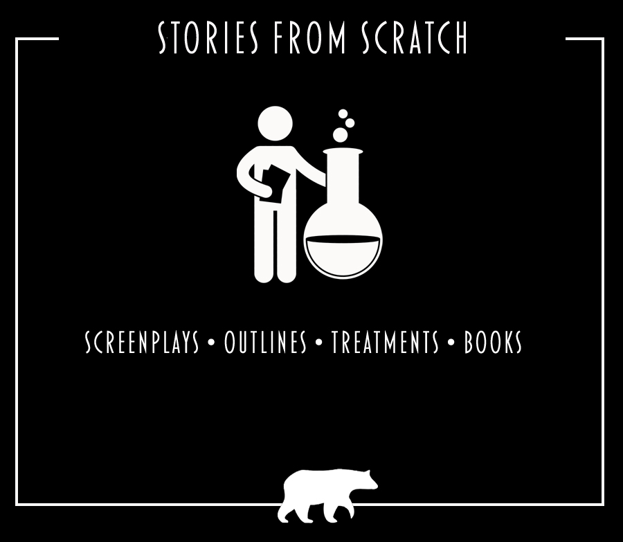 Story from scratch, screenplay, outline, treatment, book