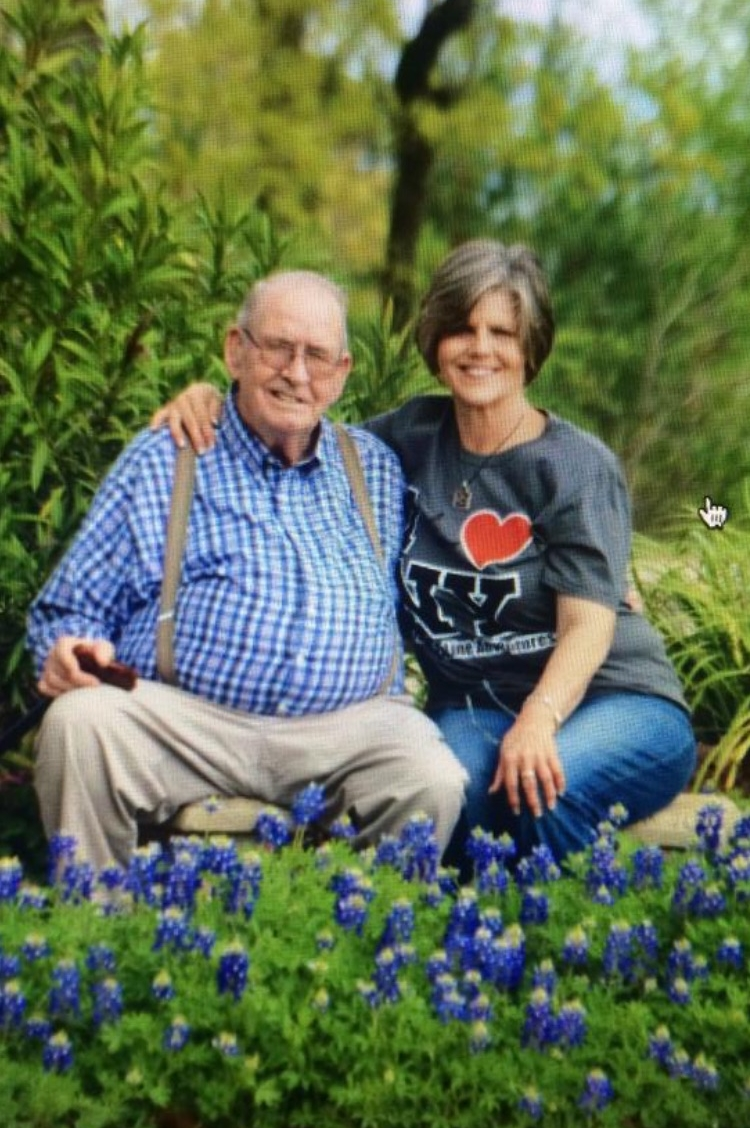 My dad and I last year with my Bluebonnets that he helped me get started. He always had the best green thumb!